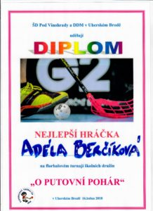 Diplom Adélka Berčíková